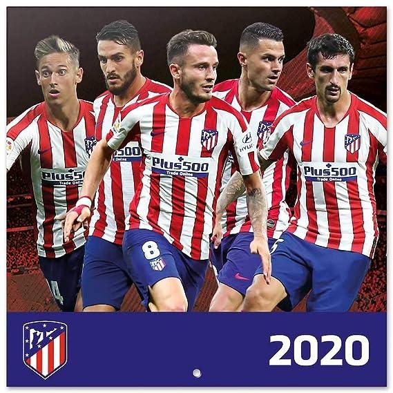 ERIK - Calendario de pared 2020 Atlético de Madrid, 30 x 30 cm