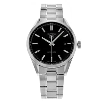 amazon com tag heuer men s carrera automatic stainless steel tag heuer men s carrera automatic stainless steel watch wv211b ba0787