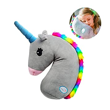 Seat Belt Pillow for Kids,Unicorn Stuffed Animal Travel Pillow,Seatbelt Shoulder Cushion Pad,Safety Belt Protector Cover,Plush Soft Auto Seat Strap Headrest Neck Support Pillow for Children Baby/