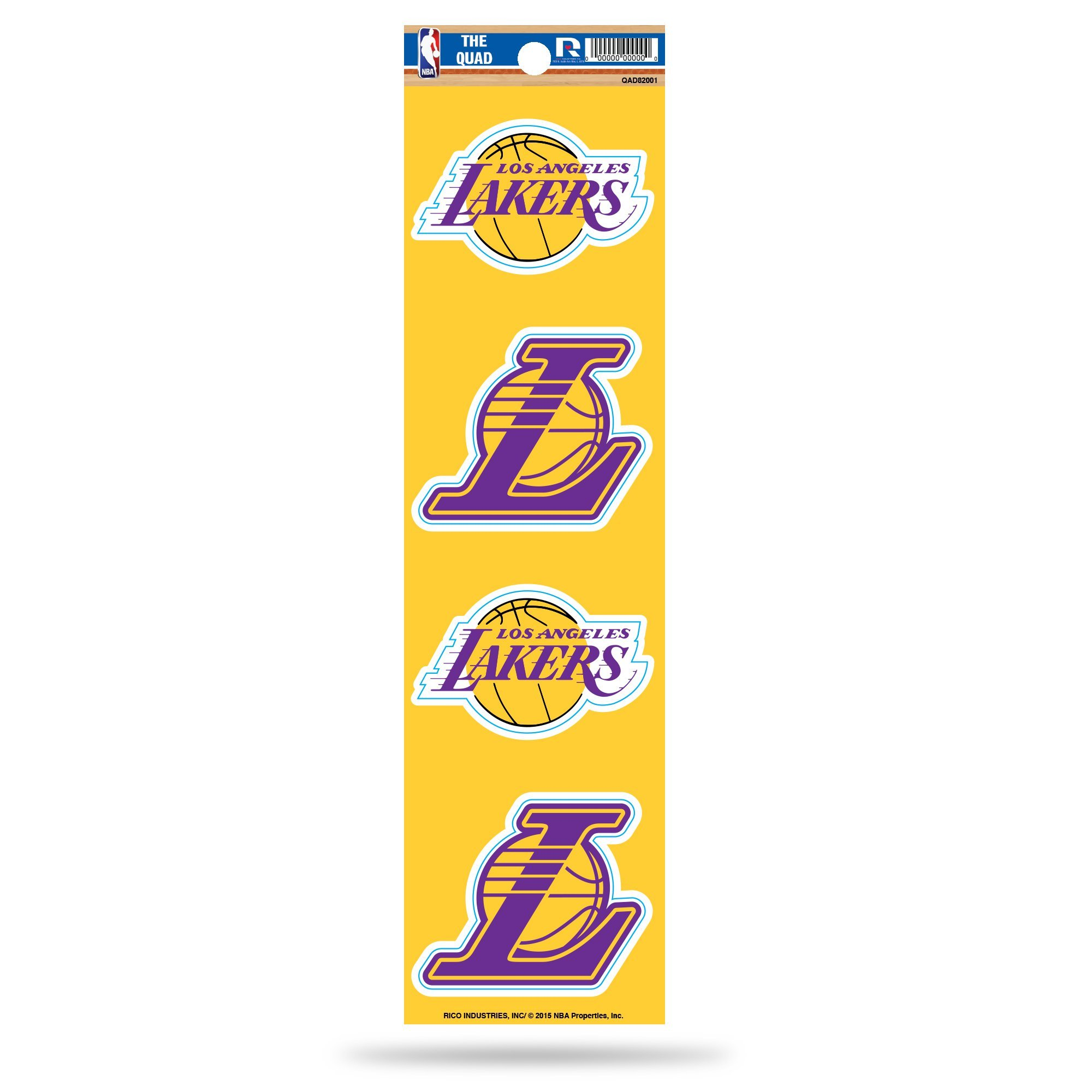 Rico NBA Los Angeles Lakers Die Cut 4-Piece The Quad Sticker Sheet