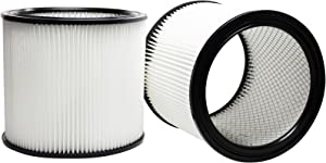 2-Pack Replacement 90304 Filter for Shop-Vac - Compatible with Shop-Vac 90304, Shop-Vac LB650C, Shop-Vac QPL650, Shop-Vac 965-06-00, Shop-Vac CH87-650C, Shop-Vac SL14-300A, Shop-Vac 925-29-10, Shop-Vac 963-12-00, Shop-Vac 596-07-00, Shop-Vac 586-74-00, Shop-Vac 586-75-00, Shop-Vac 586-76-00