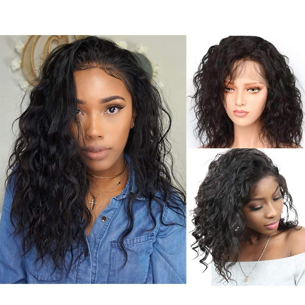 Perfume Lily 100% Real Human Hair Lace Front Wigs, Loose Wave Bob Style Brazilian Virgin Hair (10 Inch, 130% Density) 71Ff816Ze6L