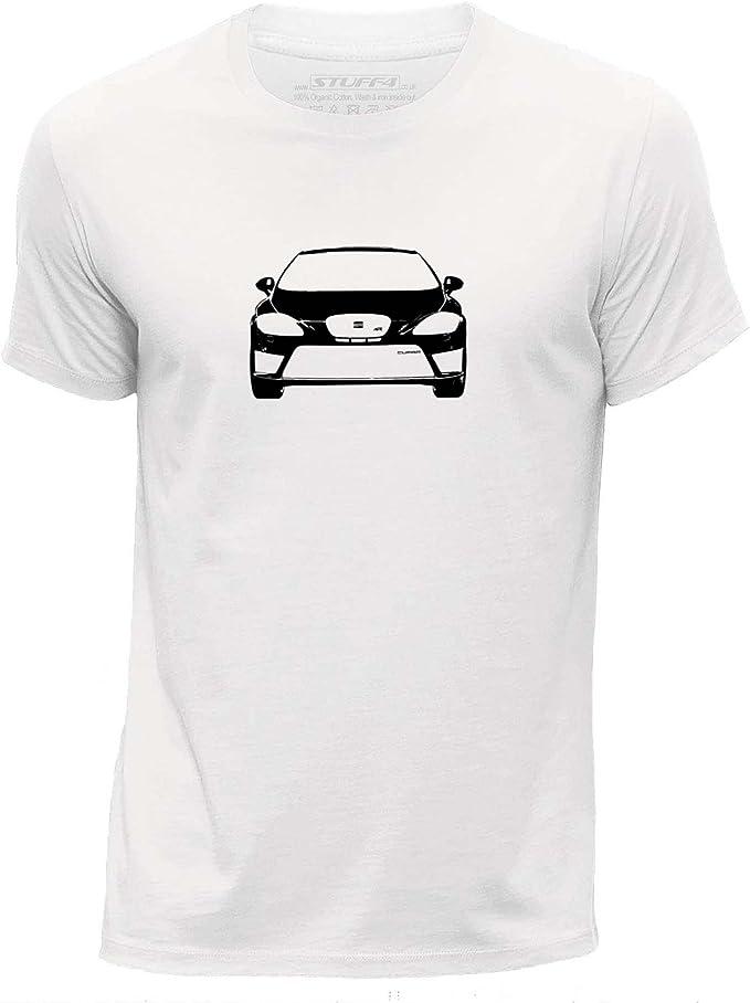 Stuff4 Hombres/Medio (M)/Blanco/Cuello Redondo de la Camiseta ...