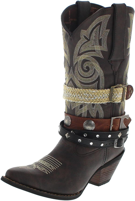 super popular 180aa e0f3b Durango Stiefel DRD0123 Western braun Lederstiefel für Damen ...