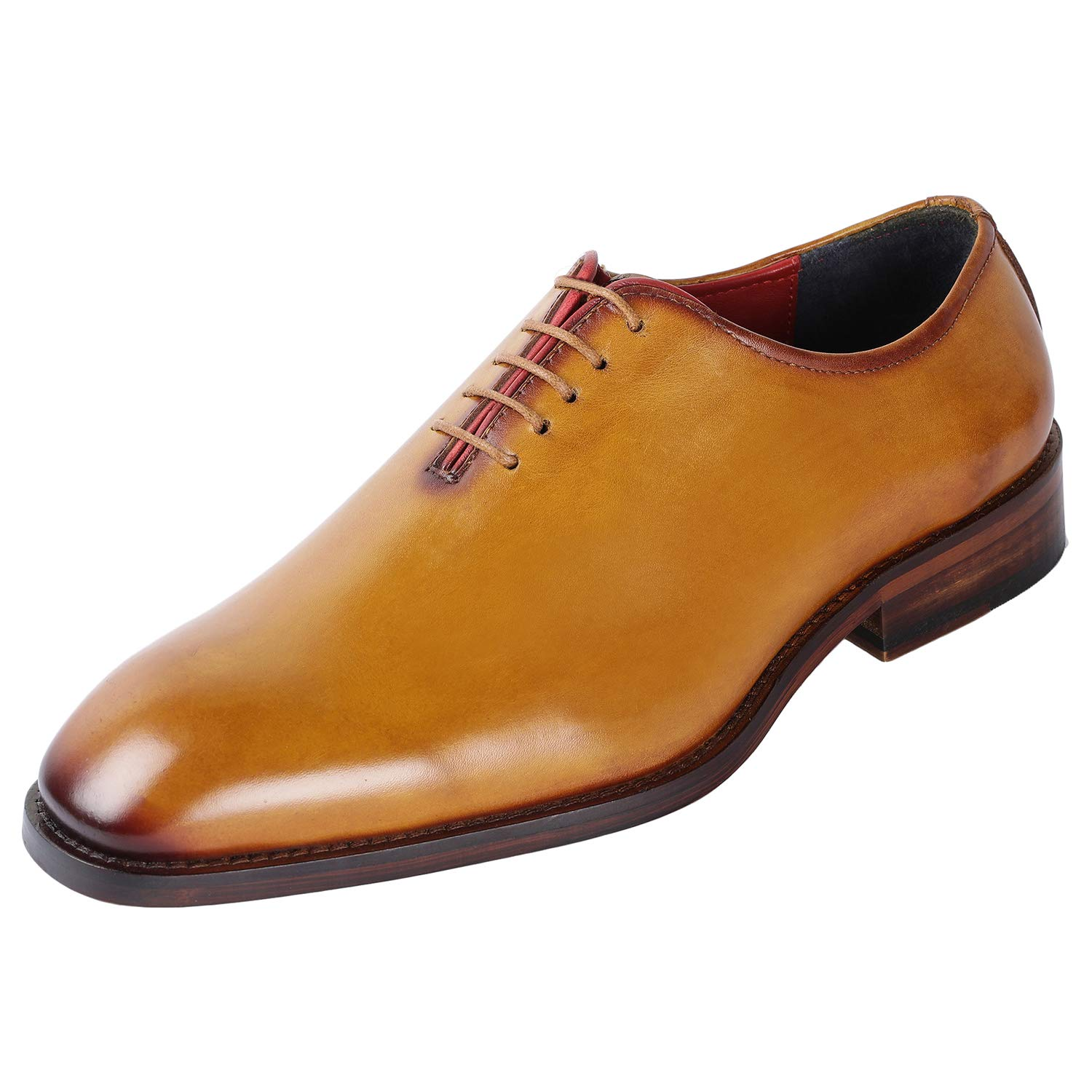 most desirable fashion new specials latest trends Lethato Handcrafted Wholecut Oxford Men's Genuine Leather Lace Up Dress  Shoes