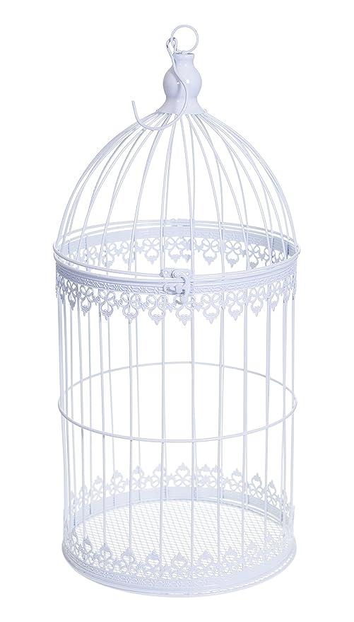 Color blanco mesa de centro decorativo jaula para boda 3 tamaños L ...