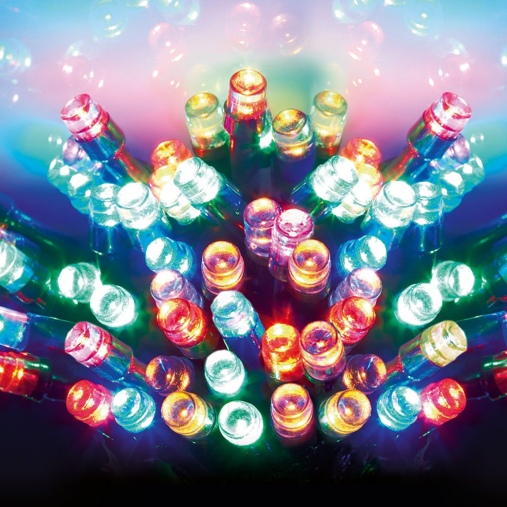 3000 Festive Multi Colour LED Christmas Lights With Multi Function ...