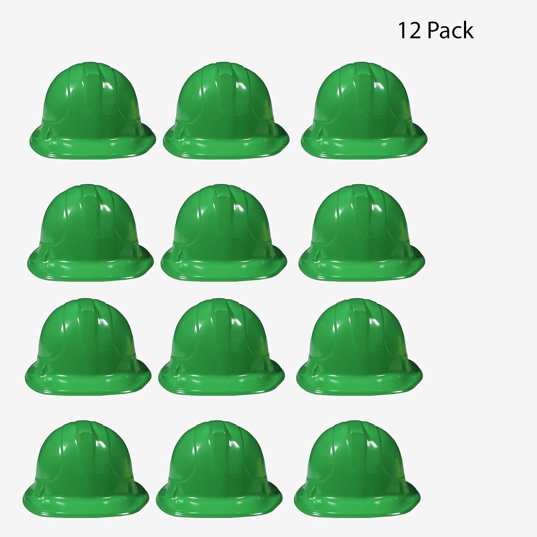 12 Pack Blue Kids Party Construction Hats