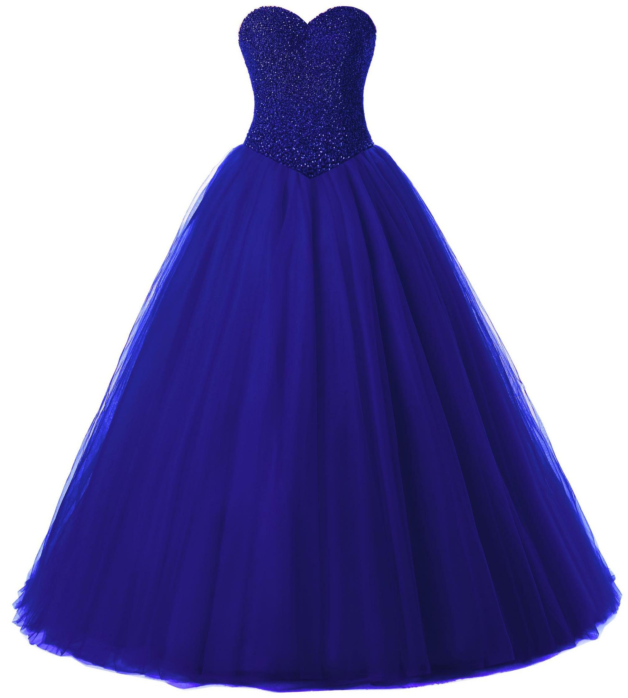 Beautyprom Women's Ball Gown Bridal Wedding Dresses (US14, Royalblue)