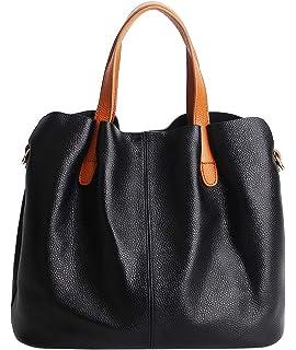da80629832 Molodo Womens Satchel Hobo Top Handle Tote Genuine Leather Handbag Shoulder  Purse