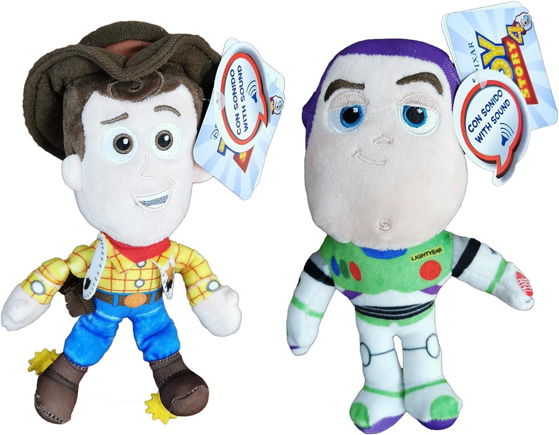 Disney Toy Story - Pack 2 Peluches Sheriff Woody, el Vaquero + ...