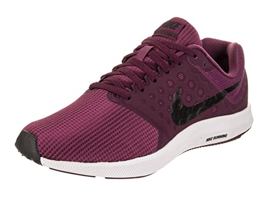 Nike Women's Downshifter 7 Tea Berry/Black Bordeaux White Running Shoe 7.5  Women US