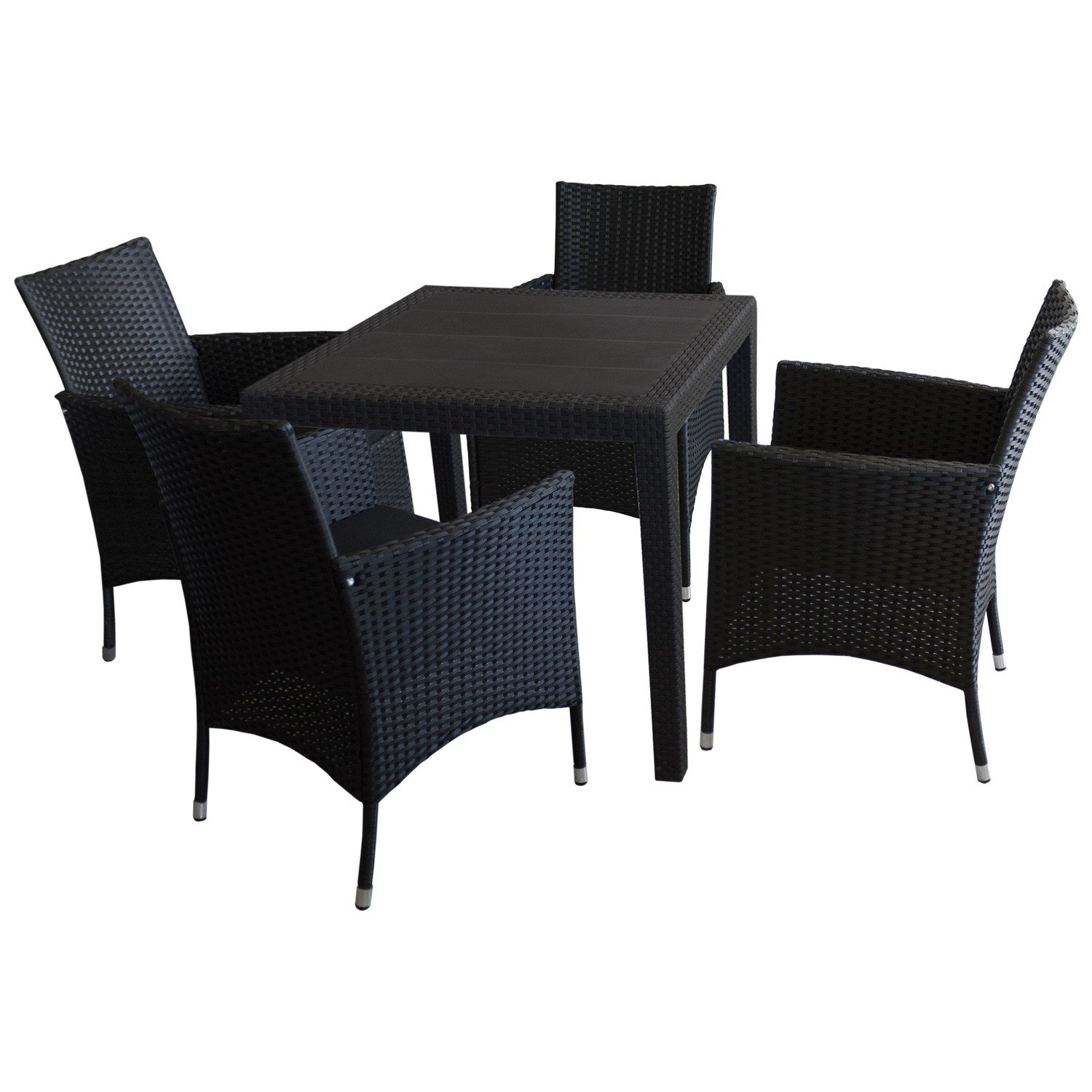 5tlg sitzgarnitur gartenm bel balkonm bel bistro set. Black Bedroom Furniture Sets. Home Design Ideas