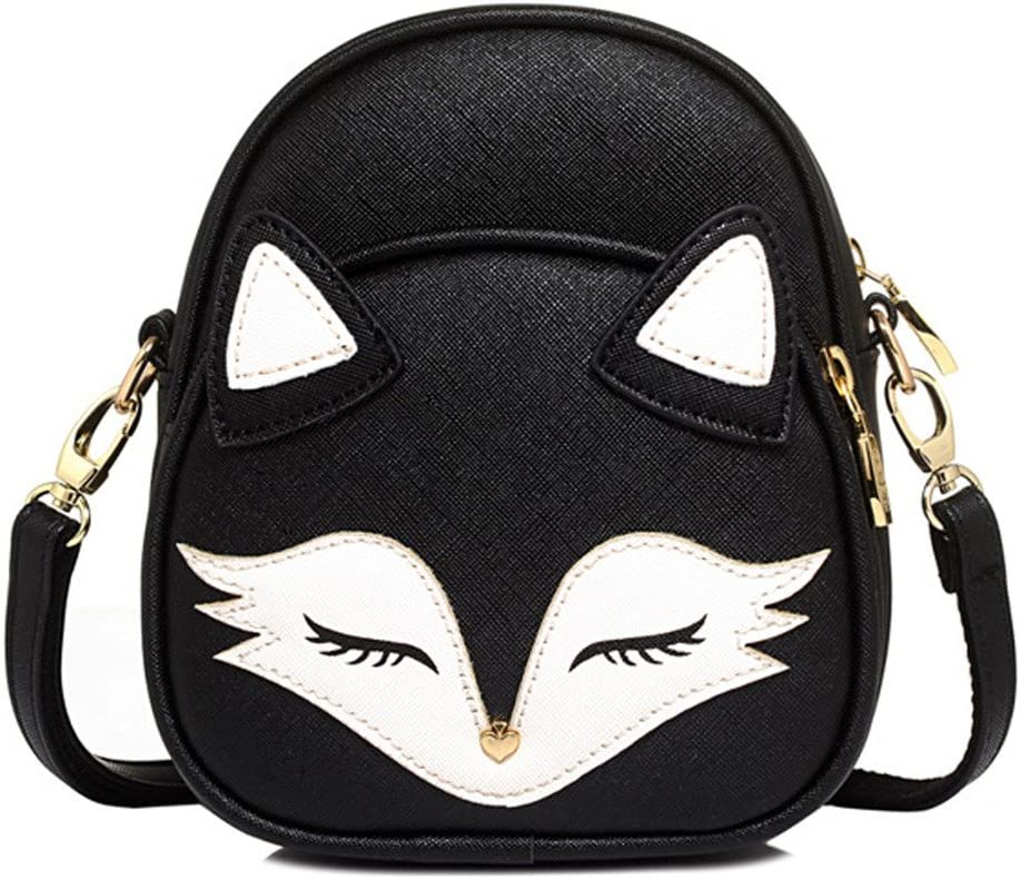 New in Pack Small Canvas Crossbody Bag Fox Print