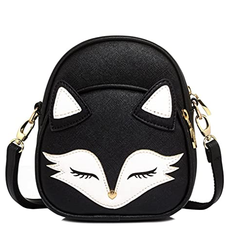 809553a44b Amazon.com  Tom Clovers Womens Girls Mini Cute Sleeping Fox handbag Cross  Body Shoulder Bag Sling Bag  Sports   Outdoors