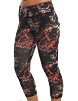 Blockout Women's Black / multi-colored print 3/4 Fitness Tights