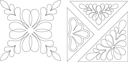Large Quilting Creations Quilt Stencil Floral Design