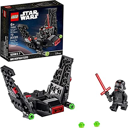 Amazon Com Lego Star Wars Kylo Ren S Shuttle Microfighter 75264 Star Wars Upsilon Class Shuttle Building Kit New 2020 72 Pieces Toys Games