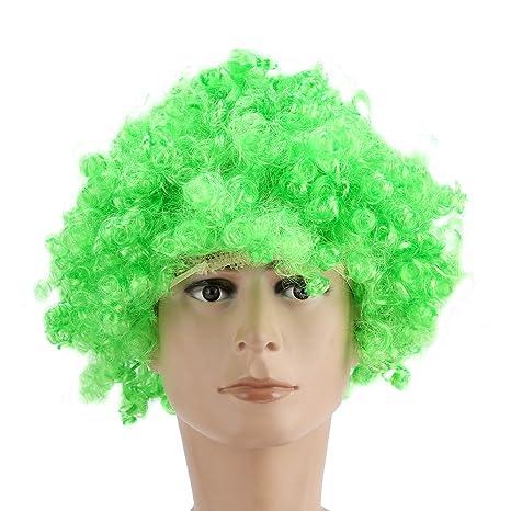 100% nueva explosión peluca ventilador fútbol 8 color festival divertido peluca de vacaciones explosión principal