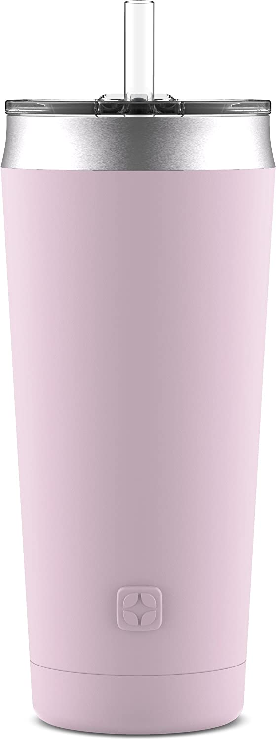 Ello Beacon Vacuum Insulated Stainless Steel Tumbler with Optional Straw
