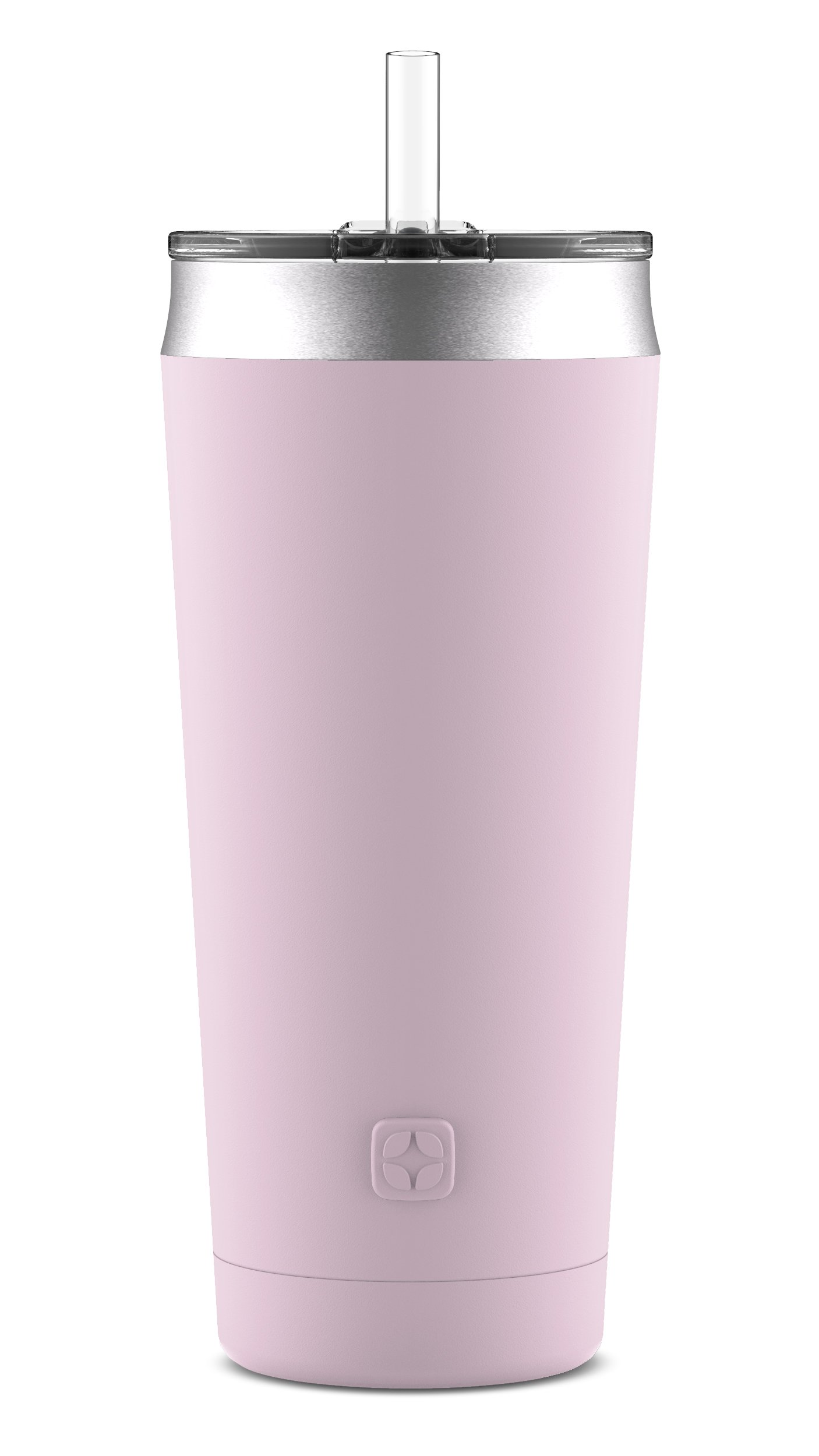 Ello Beacon Stainless Steel Vacuum Insulated Tumbler with Optional Straw, Cashmere Pink, 24 oz.