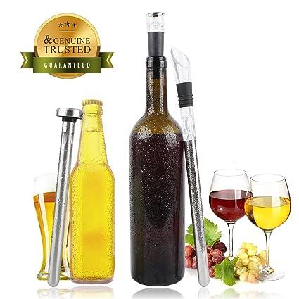 Refrigerador de UMCORP para cerveza o vino, en acero inoxidable, antigoteo