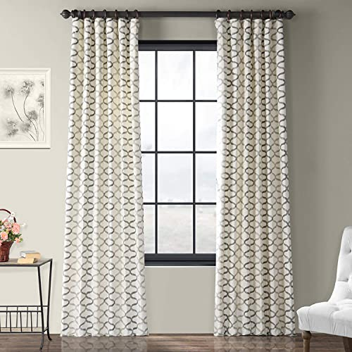 HPD Half Price Drapes PRCT-D02-84 Printed Cotton Curtain 1 Panel