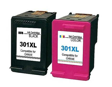 Ink_Seller - Cartuchos de tinta para impresora compatibles con HP 301XL de repuesto para DeskJet 1000, 1050 y 1050A