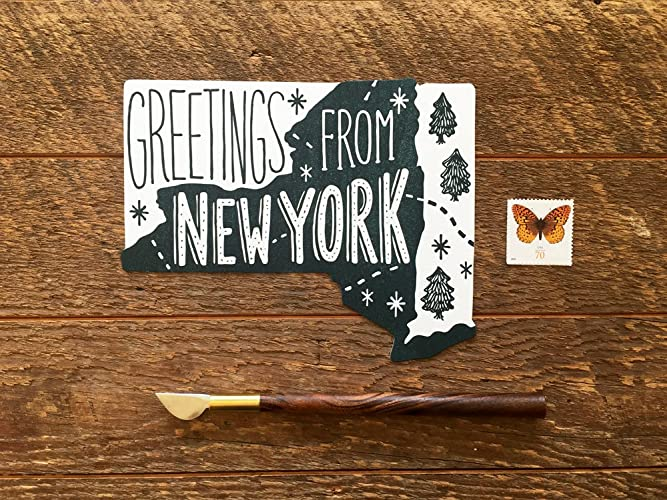 Amazon new york postcard greetings from new york single die new york postcard greetings from new york single die cut letterpress state postcard m4hsunfo