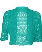Women Ladies Crochet Knitted Shrug Cardigan Bolero Sweater