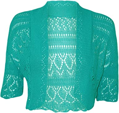 Kids Girls Crochet Knitted Shrug Cardigan Bolero Sweater