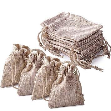 Yakamoz Vintage bolsas de arpillera con cordón cordón para ...