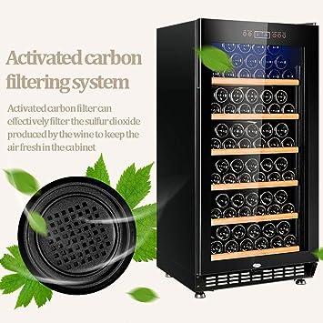GXFC 188L Refrigerador de Vinoteca, 5-22 °C Enfriador de Vino ...