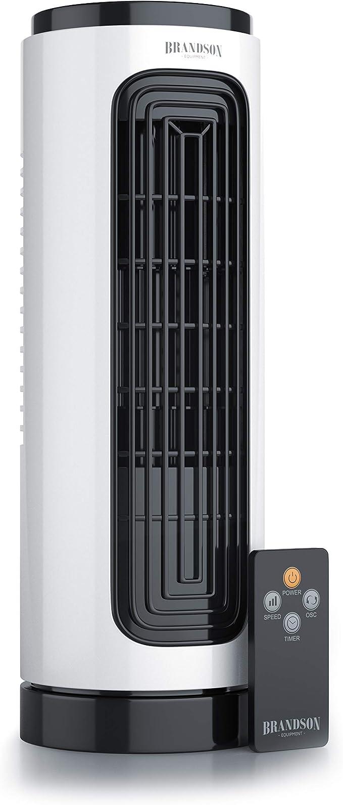 Brandson - Ventilador silencioso de Torre Compacto con ...