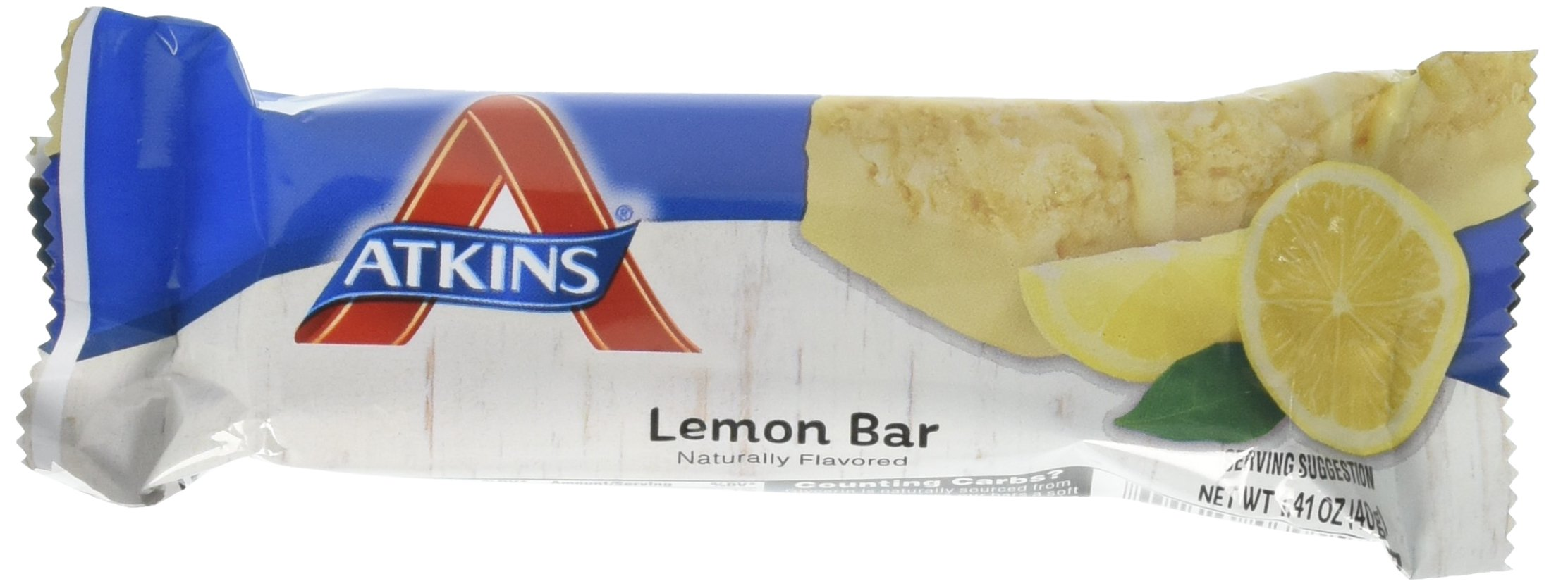 Atkins, Light & Crispy Lemon Bar, 5 Bars, 1.41 oz (40 g) Each