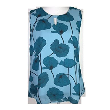 7f34ef2e52a5bd CAbi #3268 Poppy Sleeveless Blouse at Amazon Women's Clothing store: