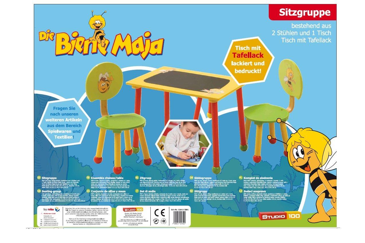 roba Maja 50811 BM1 - Mesa con dos sillas de madera para niños ... a6bcf48b30b