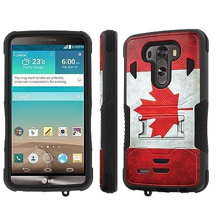 quality design 6d29c 83275 NakedShield LG G3 Case (Flag Canada) Armor Tough ShockProof Phone ...