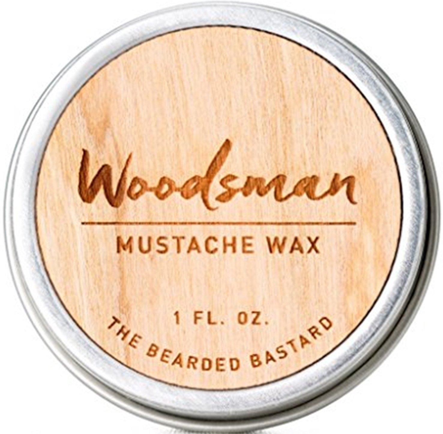 Woodsman Mustache Wax by The Bearded Bastard — Natural Mustache Wax (1 oz)