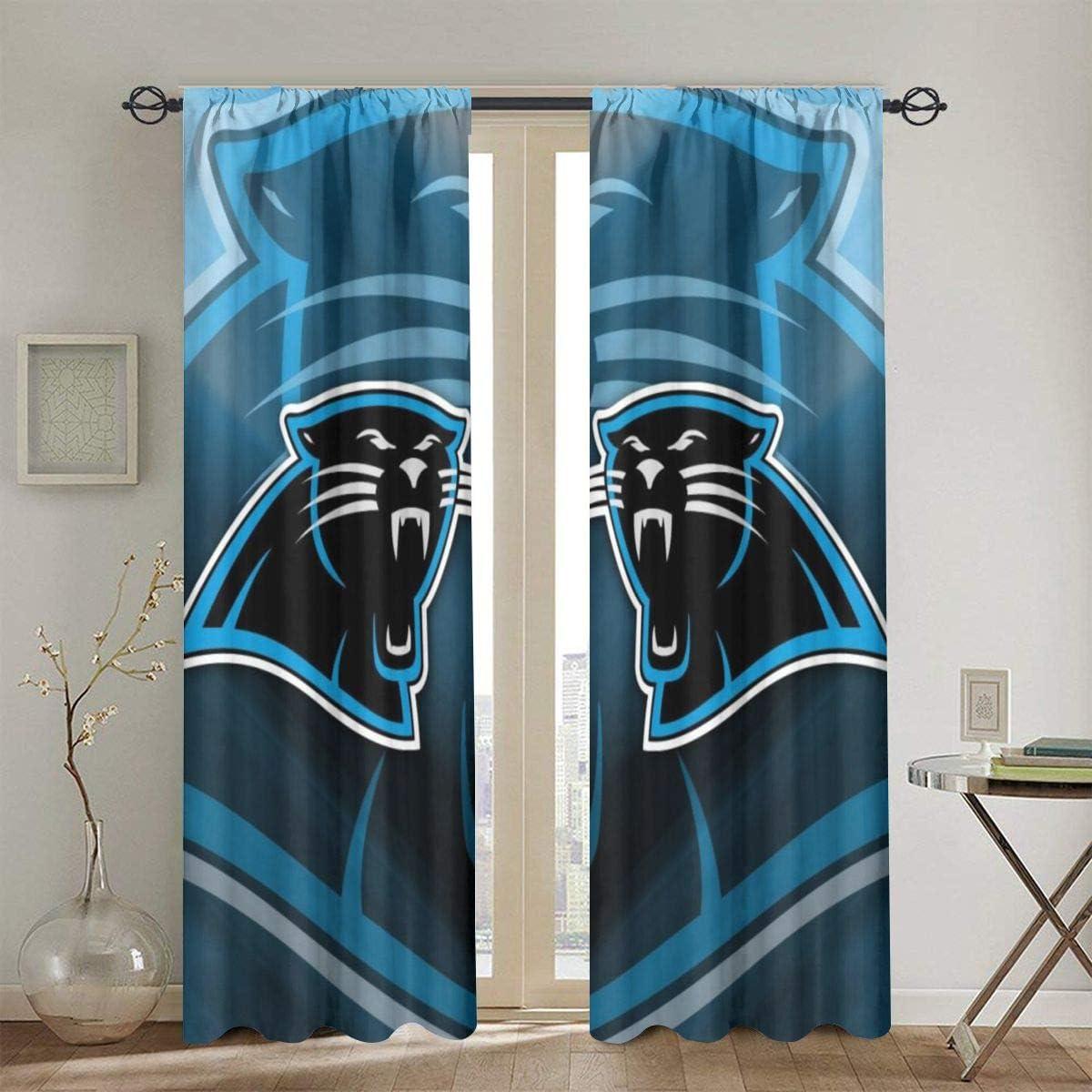 Amazon Com Rwnfa Panther Leopard Blackout Window Curtain Panels 36 W X 63 L Energy Efficient Rod Pocket Window Draperies For Living Room Bedroom 2 Panels Home Kitchen