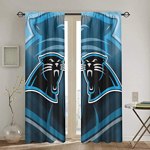 RWNFA Panther Leopard Blackout Window Curtain Panels 54″ W x 84″ L Energy Efficient Rod Pocket Window Draperie