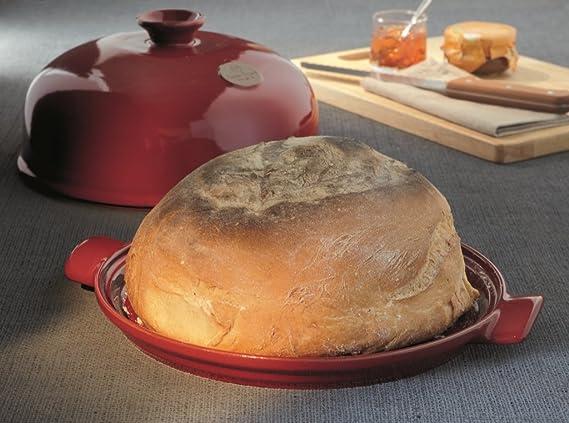 Emile Henry EH619108 Secret dEmile Le Pain - Molde para pan (revestimiento de cerámica), color rojo: Amazon.es: Hogar
