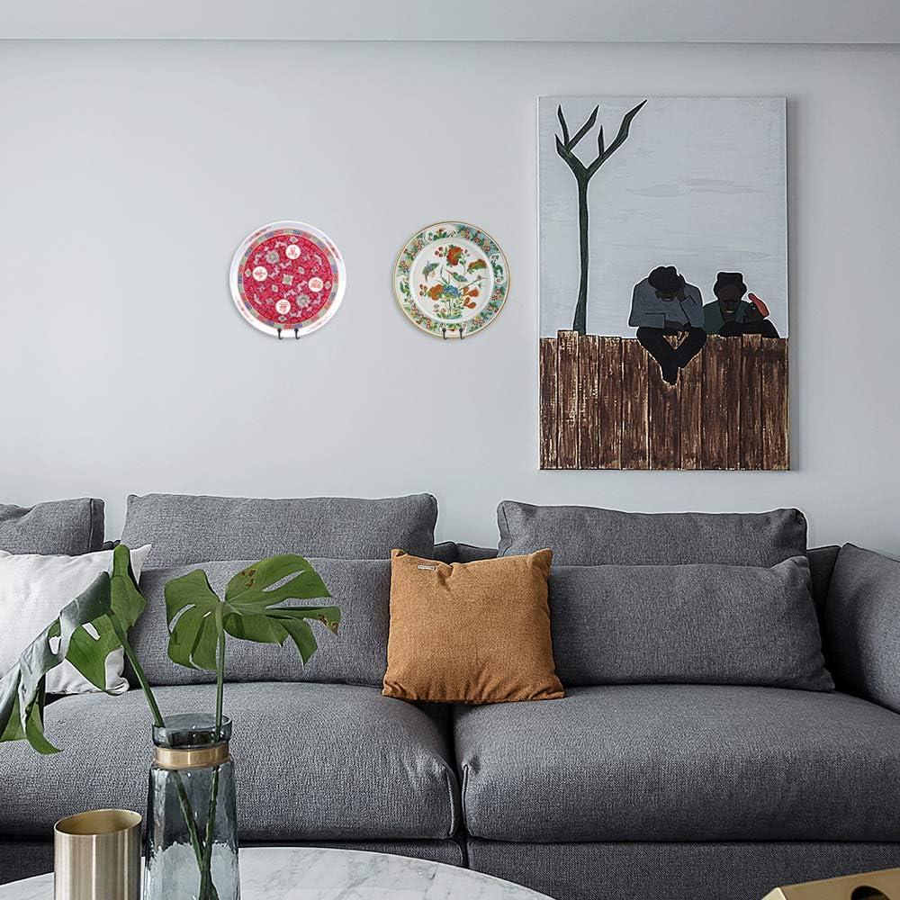 vertikaler Aufh/änger Bilderrahmen Teller-St/änder f/ür Displays dekorative Teller B/ücher 15,2 cm Wand-Staffelei Kunst und Heimdekoration Wandhalterung
