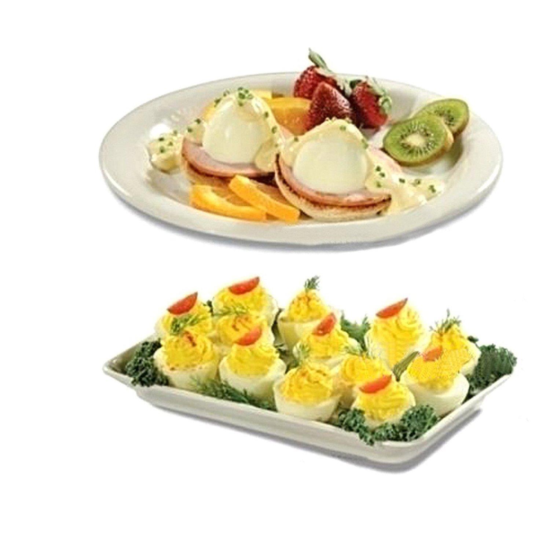 Caldera de Huevos, Premium Antiadherente Huevo de Silicona con Un Separador de albúmina BPA Libre y Apto para lavavajillas Blanco (7 Pack)