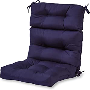Greendale Home Fashions AZ4809-NAVY Midnight 44'' x 22'' Outdoor Seat/Back Chair Cushion