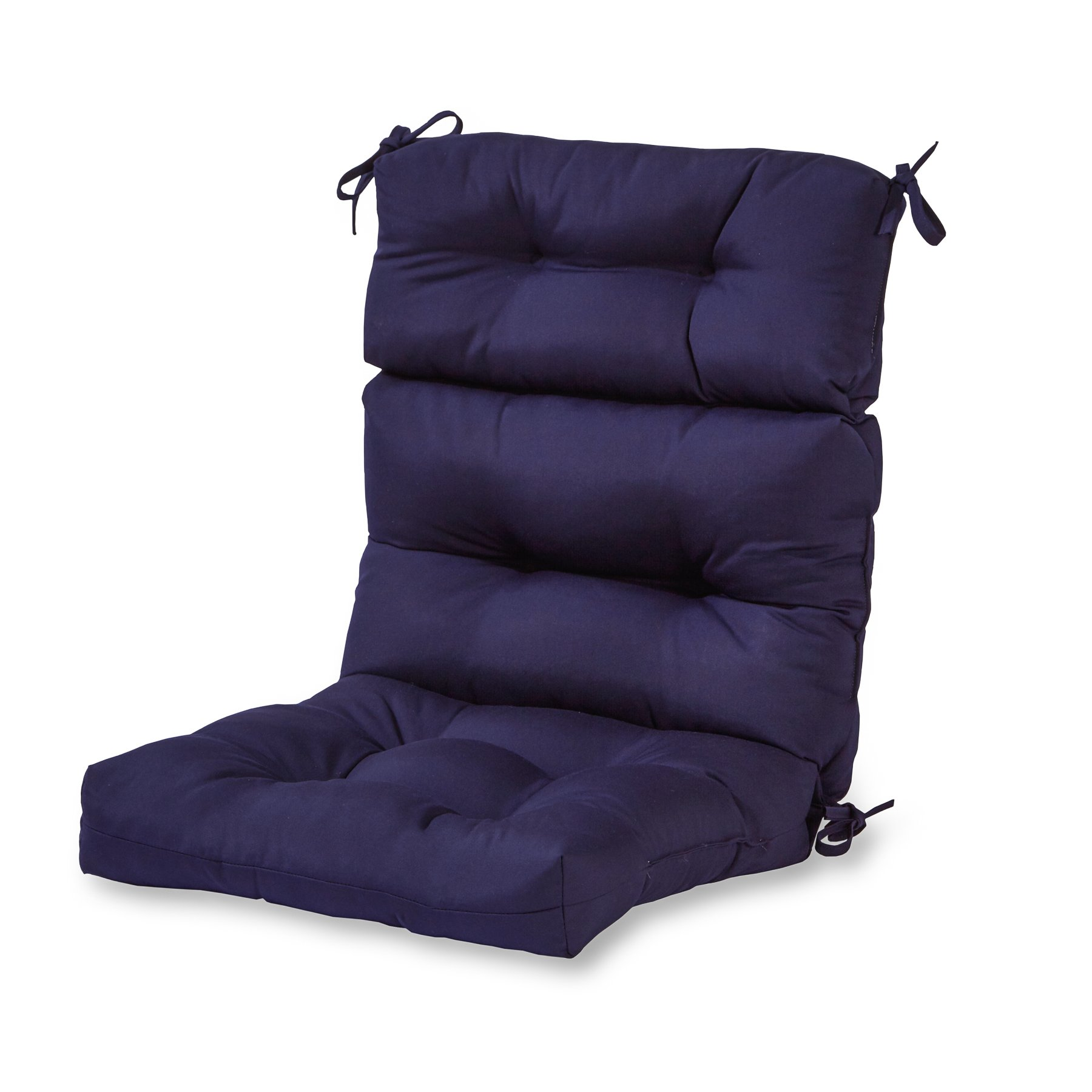 Greendale Home Fashions Outdoor High Back Chair Cushion, Navy