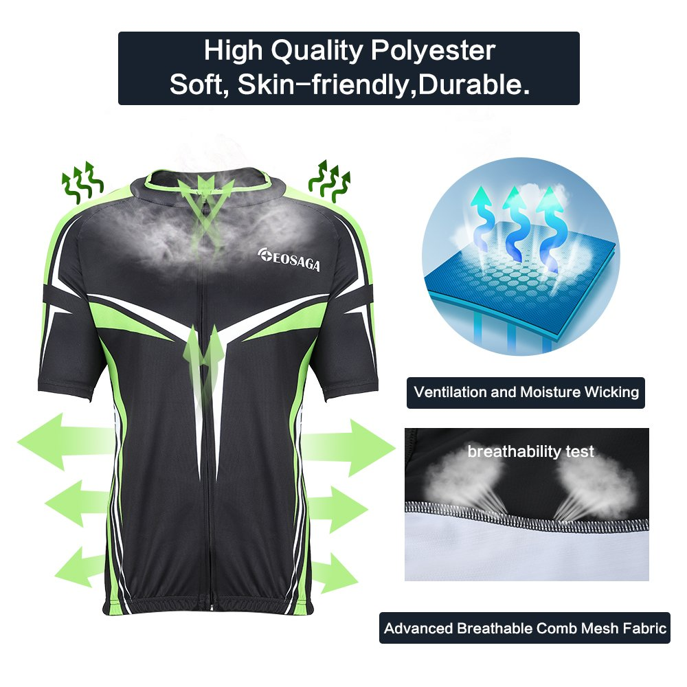 EOSAGA Mens Cycling Jersey Set Bicycle Short Sleeve Set Padded Breathable Cycling  Jersey China EO  8afcce832