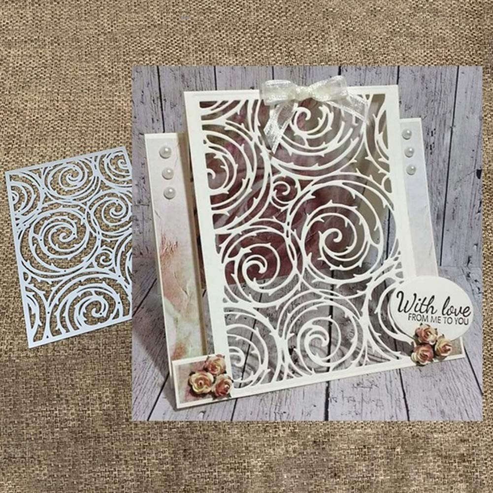 Mothcattl Cutting DiesCircular Tree Background Metal Cutting Dies Card Making Emboss Stencil DIY Scrapbook Album Paper Cards Craft Decor
