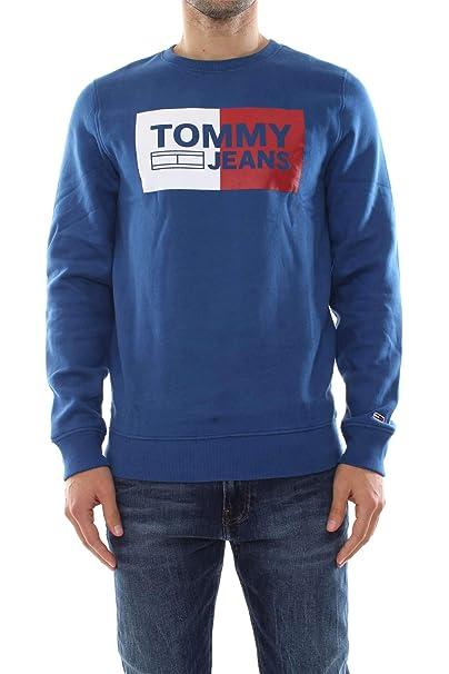 Tommy Hilfiger DM0DM06216 Essential Logo Sudadera Hombre Bluette M: Amazon.es: Ropa y accesorios