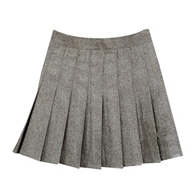 Women School Uniforms plaid Pleated Mini Skirt at Amazon Women's ...